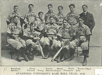 Stanford Cardinal baseball - The Cardinal baseball team of 1896.
