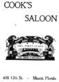 1905 Cooks Saloon advert 12th Street in Miami Florida.png