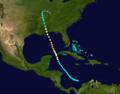1906 Atlantic hurricane 6 track.png