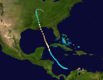 1906 Mississippi hurricane - Image: 1906 Atlantic hurricane 6 track