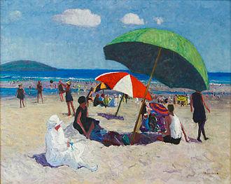 """Louise Upton Brumback - Louise Upton Brumback, Good Harbor Beach, 1915, oil on canvas, 23 1/2"""" x 27 1/2"""""""