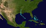 1937 Atlantika tropika ŝtormo 9 track.png