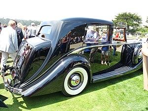 Barker (coachbuilder) - sedanca de ville 1938 Packard 1605 chassis
