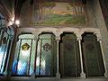 193 Casa Alegre de Sagrera (Terrassa), vitralls i pintura mural a la caixa d'escala.JPG