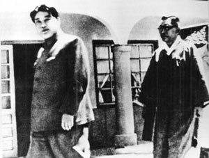 History of North Korea - Kim Il-sung with Kim Koo in 1948