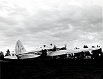 """1955. Loading Boeing 247 with """"goop"""". Western spruce budworm control project. Big Summit airstrip, OR. (32213749684).jpg"""