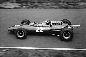 Paul Hawkins (racing driver) - Hawkins driving a privately entered Lotus at the 1965 German Grand Prix.