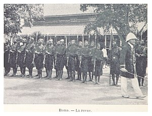 Batetela rebellion - Soldiers of the Force Publique, pictured at Boma in 1899