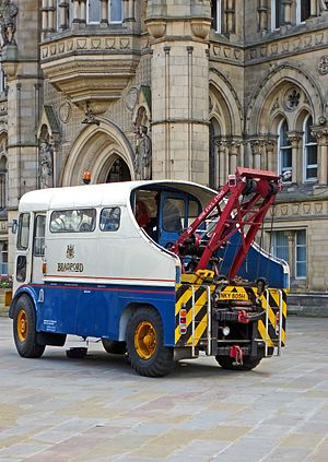 AEC Matador - Bus recovery truck, converted and civil registered in 1970