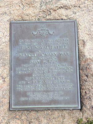 Noah Stoddard - 1st Naval Battle American Revolution Plaque Fort Phoenix, Massachusetts
