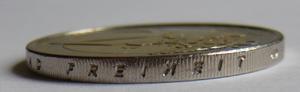 """Deutschlandlied - The word """"FREIHEIT"""" (freedom) on Germany's 2-Euro coin"""