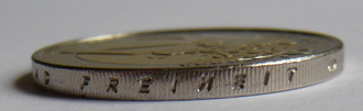 "Deutschlandlied - The word ""FREIHEIT"" (freedom) on Germany's 2-Euro coin"