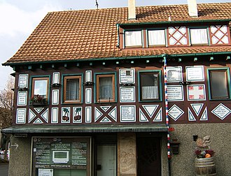 Perennial candidate - Palmer's house in Geradstetten boasted some of his election percentages