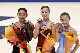2007 Skate America Ladies Podium.jpg