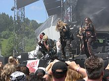 Lizzy Borden performing at the 2008 Bang Your Head Festival in Germany.