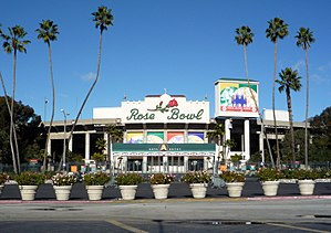 The Rose Bowl stadium before the 2009 Rose Bow...