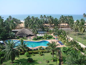 Lomé - View of the Lomé beach and neighbourhood from IBIS Hotel