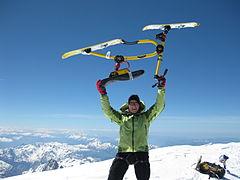 2011 Snowbike Mont Blanc Frist descent -Wolfgang Jast.JPG
