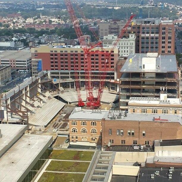 2013 - PPL Center construction in downtown Allentown