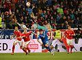 2014-05-30 Austria - Iceland football match, Martin Hinteregger, Viðar Örn Kjartansson 0520.jpg