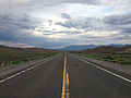 2014-07-18 19 06 00 View east along U.S. Route 6 about 8.0 miles east of the Nye County Line in White Pine County, Nevada.JPG