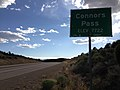 2014-08-09 17 44 27 View west along U.S. Routes 6 and 50 and north along U.S. Route 93 about 59.1 miles east of the Nye County line at Connors Pass, Nevada.JPG