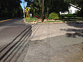 2014-08-29 15 29 51 Intersection of Lower Ferry Road (Mercer County Route 643) and Stuyvesant Avenue in Ewing, New Jersey, with concrete pavement likely dating to the 1950s.JPG