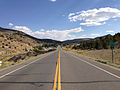 2014-09-09 15 21 05 View east along U.S. Route 50 about 36.3 miles east of the Lander County line entering Eureka, Nevada.JPG