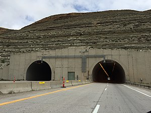 Interstate 80 - Green River Tunnel in Green River, Wyoming, one of three sets of tunnels along I-80