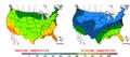 2015-10-26 Color Max-min Temperature Map NOAA.png