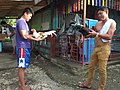 2016-09-28 Cockfighting in Buaya, Lapu-Lapu City, Cebu, Philippines ブアヤ村の闘鶏をする男たち DSCF6703.jpg