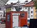 2017-08-09, Umbau des Verkehrsknotens am Siegesdenkmal in Freiburg, Baucontainer Bundesrepublik Deutschland .jpg