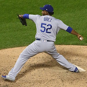 Pedro Báez - Báez with the 2017 Los Angeles Dodgers