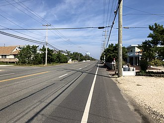 Harvey Cedars, New Jersey - County Route 607 (Long Beach Boulevard) northbound in Harvey Cedars