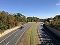 2018-10-30 12 23 13 View south along Virginia State Route 286 (Fairfax County Parkway) from the overpass for Virginia State Route 640 (Gambrill Road) on the border of Burke and Newington Forest in Fairfax County, Virginia.jpg