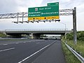 2019-05-19 18 42 20 View east along Interstate 70 and U.S. Route 40 (Baltimore National Pike) at Exit 54 (Maryland State Route 85-East Street, Downtown Frederick, Buckeystown) in Ballenger Creek, Frederick County, Maryland.jpg