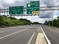 2019-05-27 13 01 15 View east along the inner loop of the Capital Beltway (Interstate 495) at Exit 25 (U.S. Route 1-Baltimore Avenue, College Park, Laurel) in Beltsville, Prince George's County, Maryland.jpg