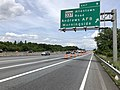 2019-05-27 14 33 08 View north along the outer loop of the Capital Beltway (Interstate 95 and Interstate 495) at Exit 9 (Maryland State Route 337-Allentown Road, Andrews Air Force Base, Morningside) in Morningside, Prince George's County, Maryland.jpg