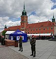 2019 Military police and the state television (TVP) in front of Royal Castle.jpg