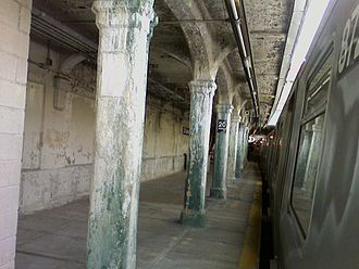 20th Avenue (BMT Sea Beach Line) - The station had fallen into serious disrepair in the early 2000s