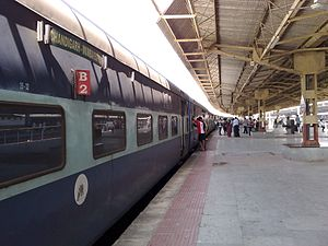 Chandigarh Bandra Terminus Superfast Express - Image: 22451 Bandra Terminus Chandigarh Superfast Express at Bandra Terminus