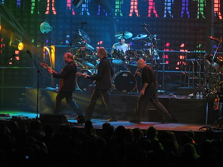 Collins performing with Genesis at the Wachovia Center, Philadelphia, Pennsylvania, U.S., 2007 2369 - Philadelphia - Wachovia Center - Genesis - I Can't Dance.JPG
