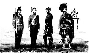 Hamilton Low Parks Museum - Soldiers of the 26th (Cameronian) Regiment in 1866