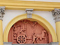 281012 Mythological scene as a bas-relief on the western facade of the Wilanów Palace - 09.jpg
