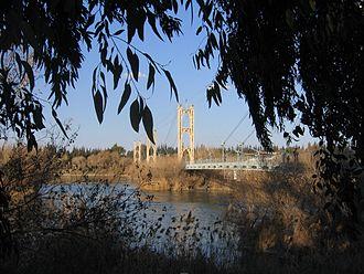 Fadel Al-Aboud - Hanging bridge, Deir al zor.