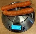 2 carrots on a digital scale measuring 112g.jpg