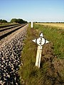 3-4 Marker on the Scarborough to York railway line - geograph.org.uk - 545653.jpg