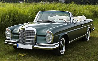 Mercedes-Benz W108 - W111 or W112 cabriolet ( W108 and W109 were only available as 4-door models. The 2-door W111 and W112 coupés and cabriolets are frequently mistaken for W108 or W109s)