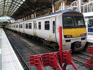 British Rail Class 322 - 322485 at London Liverpool Street on 1 August 2004