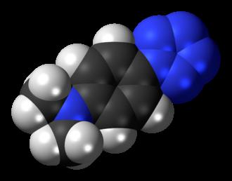 4-Dimethylaminophenylpentazole - Image: 4 Dimethylaminophenylp entazole 3D spacefill